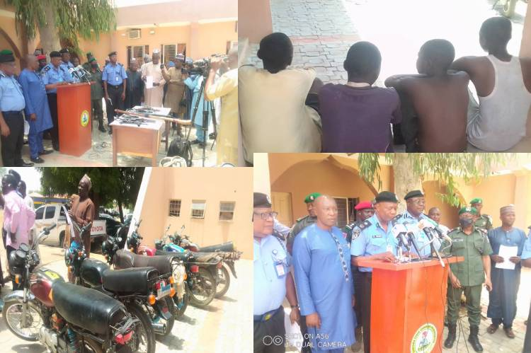15 suspects in connection with Kaura Namoda protest, Arrested by the zamfara police command recover's ammunition
