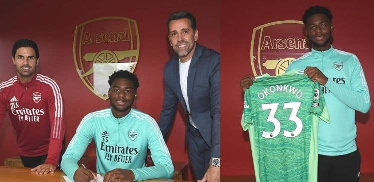 Arsenal promotes Nigerian goalkeeper to first team squad after signing new deal