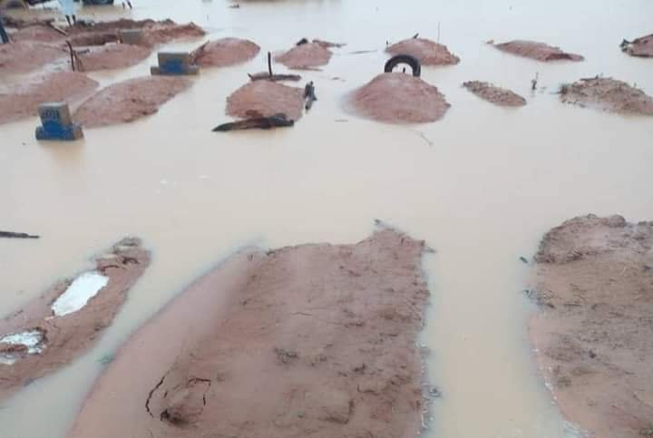 Flood submerges graveyard, exposes corpses in Senate President's home town [Photos]
