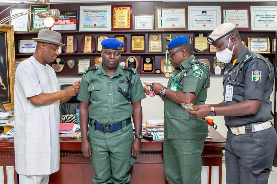 Festus Keyamo, Hon Minister for Labour (state) Decorate his  Security aides