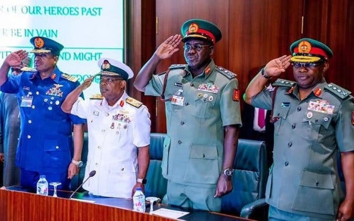 Service Chiefs removal: Excited Nigerian soldiers dance, fire shots