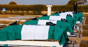 NAF. officer of Beechcraft King Air B350i which crashed in Abuja buried.