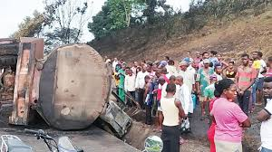 Six Tricycle Passengers in Akwa Ibom, southern Nigeria has been Crushed to Death by Fuel truck