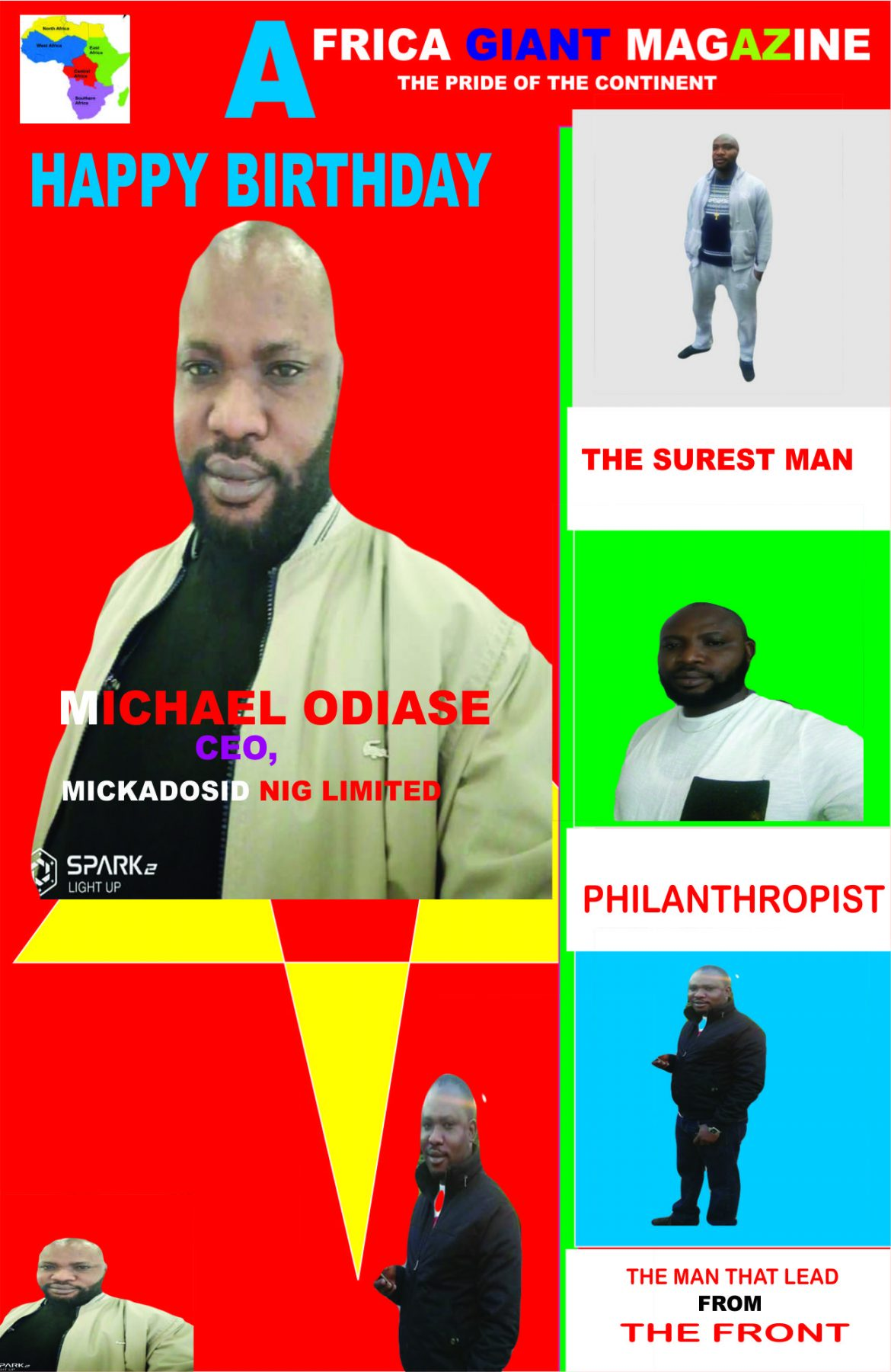 MICHAEL ODIASE IS PLUS ONE TODAY