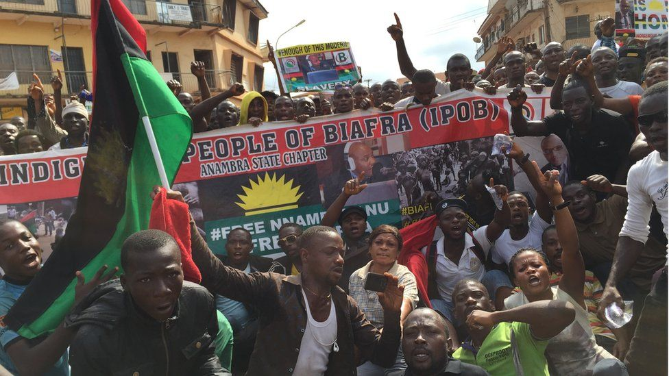 Security Forces in Nigeria  'killed 170 peaceful pro-Biafra protesters'