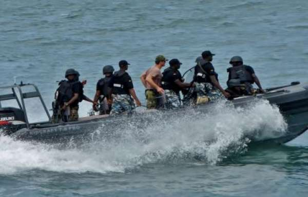 The Nigerian Navy has apprehended four stowaways caught onboard MT RIVER SHINER vessel at the Lagos anchorage.
